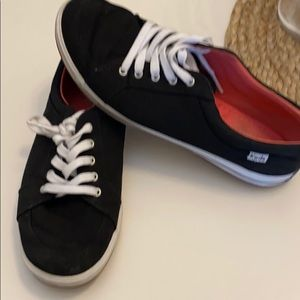Women's black lace up keds